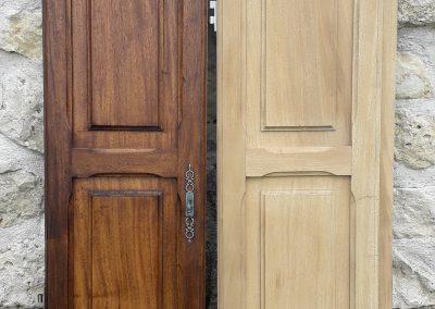 Décapage portes de meubles
