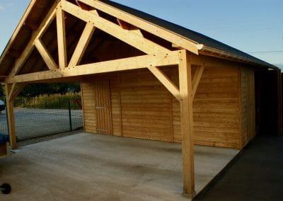 Décapage façade bois lasuré